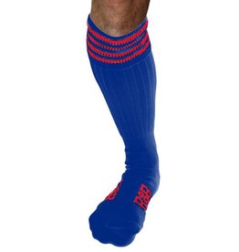 RoB RoB Boot Socks Blue with Red Stripes