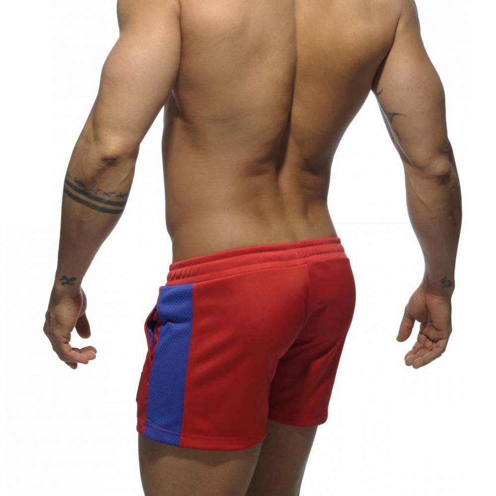 Addicted Addicted Badge Sport Short rood met blauw