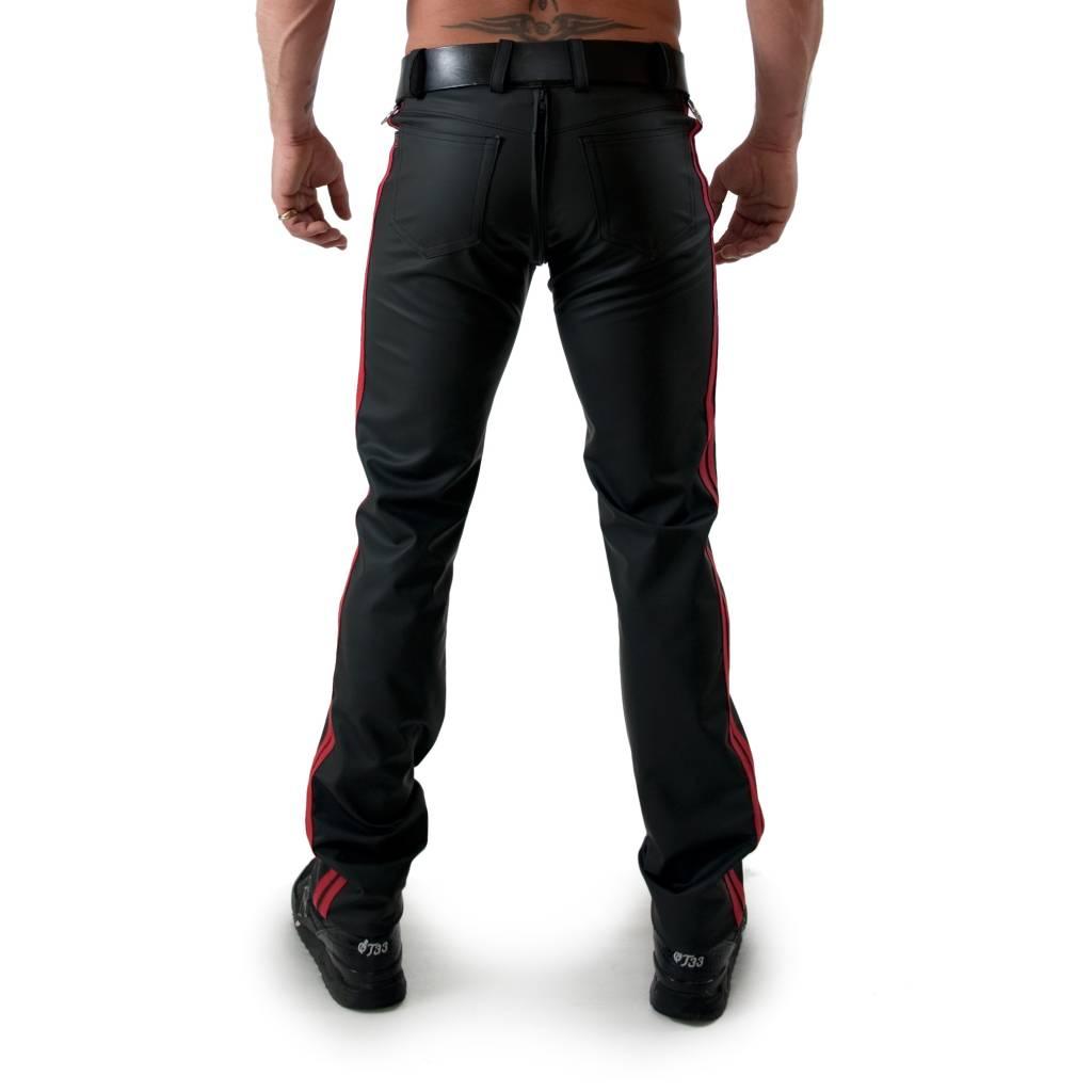 RoB F-Wear Full Zip Jeans, Rote Doppelstreifen