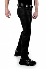 RoB F-Wear Full Zip Jeans, Scharze Doppelstreifen