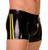 RoB Rubber Shorts with double Yellow Stripes