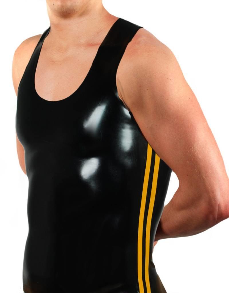 RoB Rubber Y-Back Singlet met gele strepen