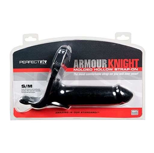 Perfect Fit Armour Knight Molded Hollow Strap-On