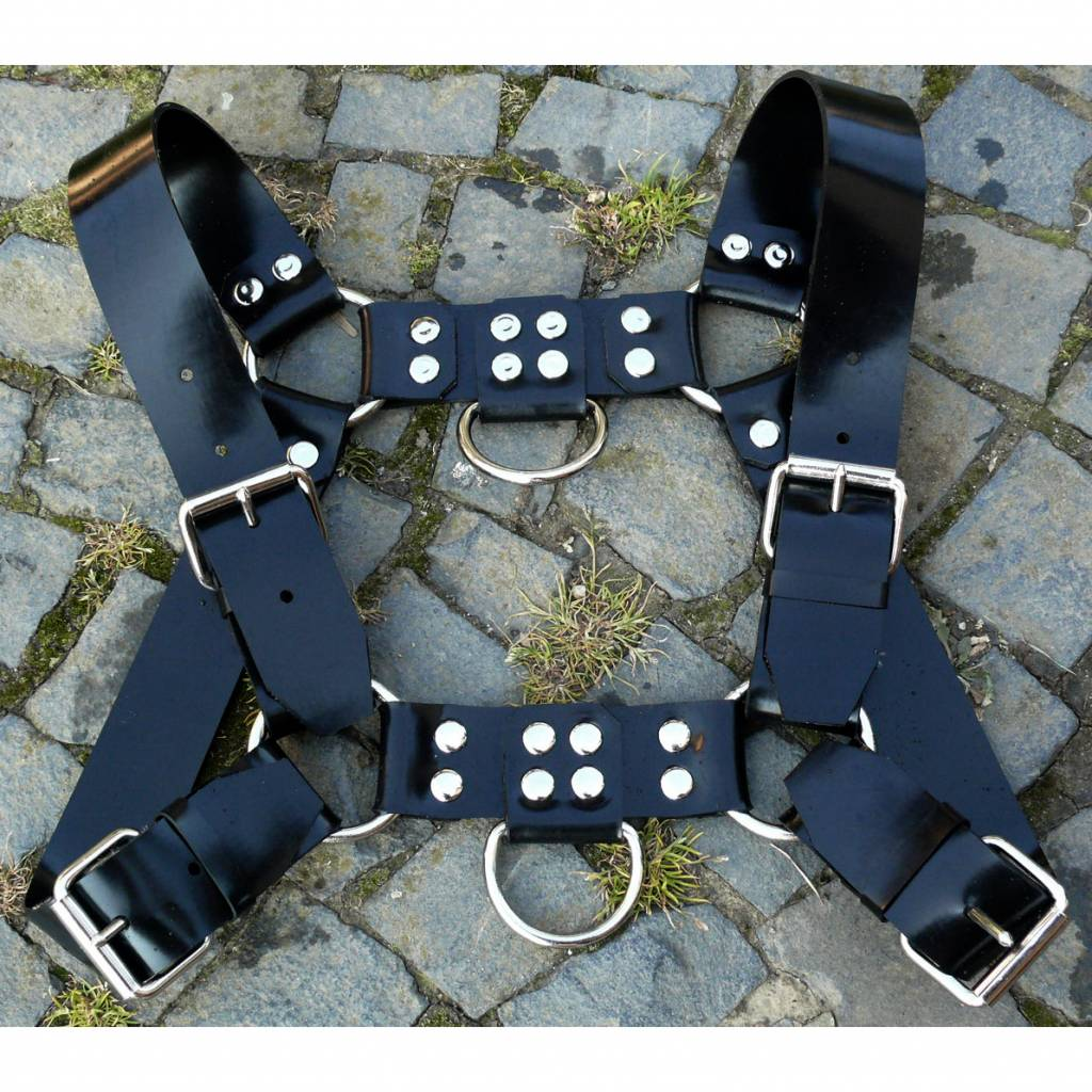 Fetishak Rubber Bulldog Harness