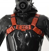 Fetishak Rubber Bulldog Harness Red