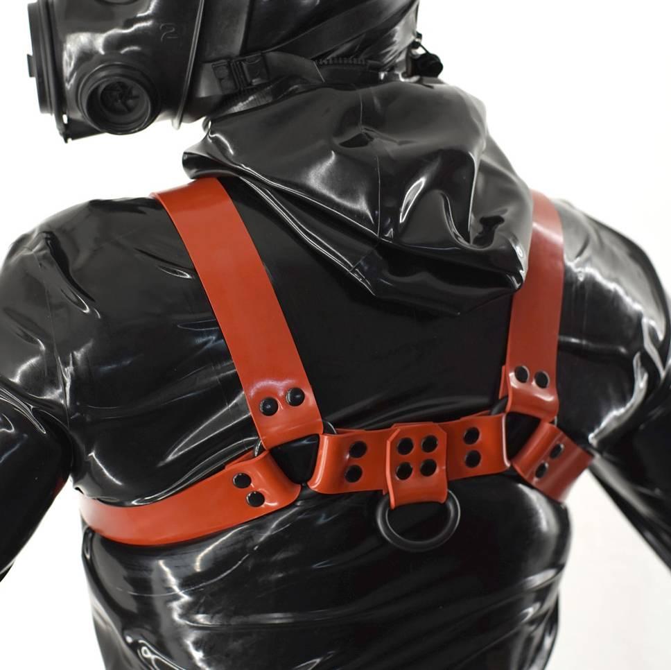 Fetishak Rubber Bulldog Harness Rot