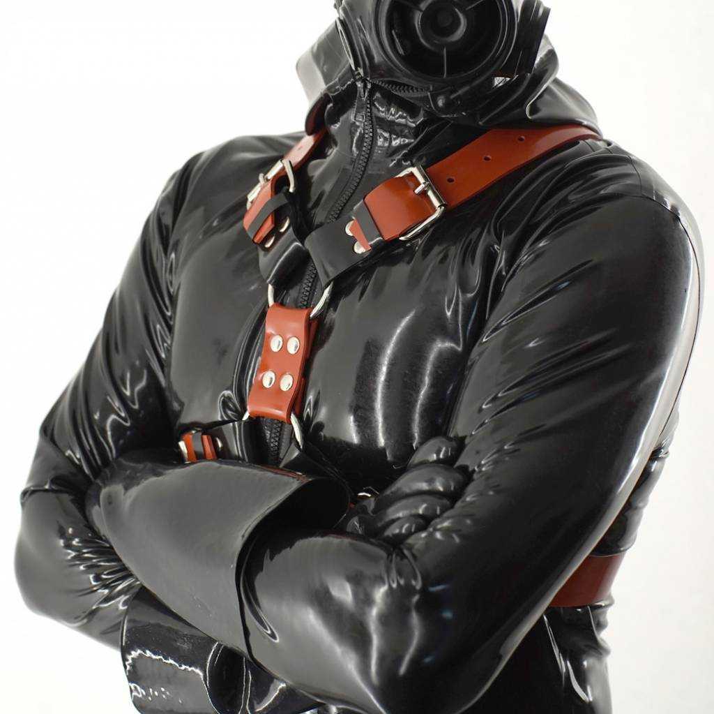 Fetishak Rubber Y-Front Harness Red