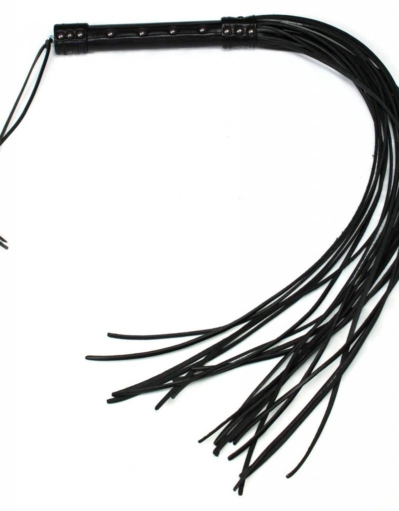 RoB Leather Long Flogger 20 strand hard tail