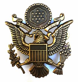 Metal Patch USAF bronze