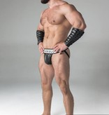 Maskulo Fetish Jock strap with detachable codpiece black