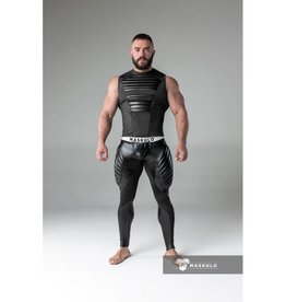Maskulo Fetish Leggings with codpiece and back zip black