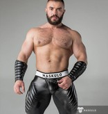 Maskulo Fetish Leggings with codpiece and back zip black/black