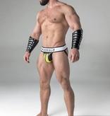 Maskulo Fetish Jock strap with detachable codpiece black/yellow