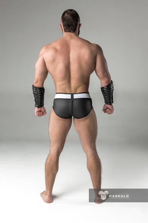 Maskulo Fetish Briefs with codpiece and rear zip black