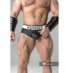 Maskulo Fetish Briefs with codpiece and rear zip black