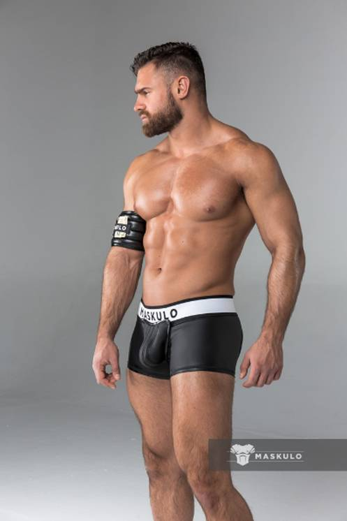 Maskulo Fetish Trunks with codpiece black