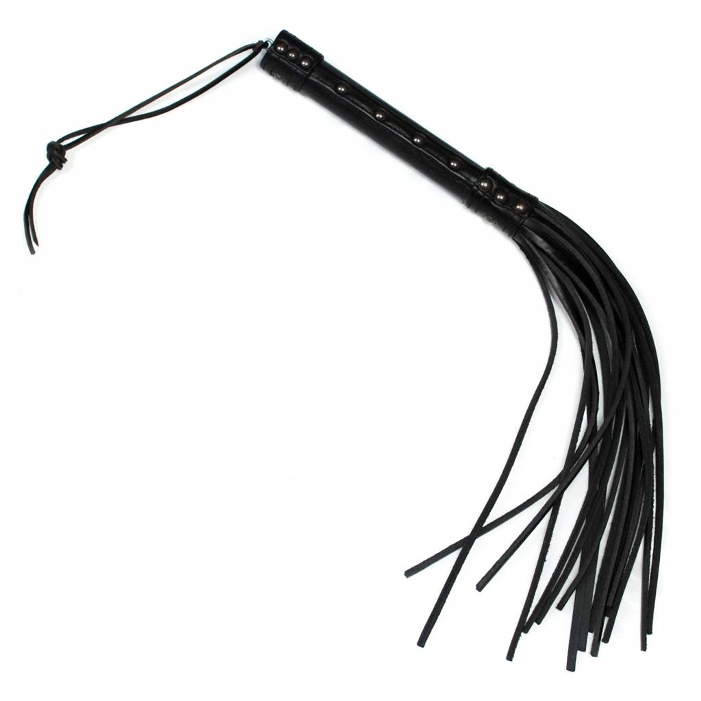 RoB Leather Short Flogger 16 strand hard tail