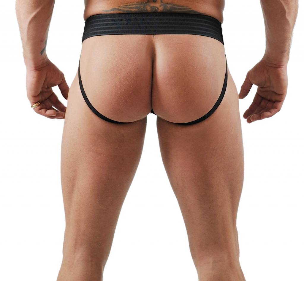 RoB F-Wear Jockstrap with Front Zip and blue piping