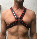 RoB 4-Strap Harness black with red piping