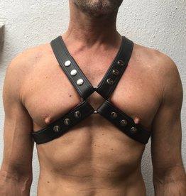 RoB 4-Strap Harness schwarz mit scharzen Piping