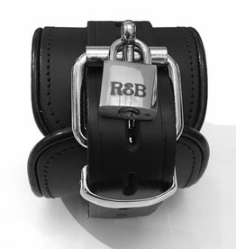 RoB Leather Ankle Restraints Lockable Black