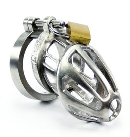 BON4 Stainless Steel Chastity Cage S/M