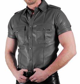 RoB Lederhemd Weiches Leder Grau