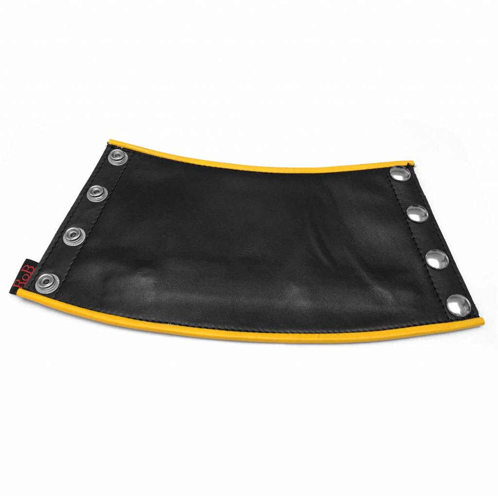 RoB Leather Gauntlet Wrist Wallet with Yellow Piping