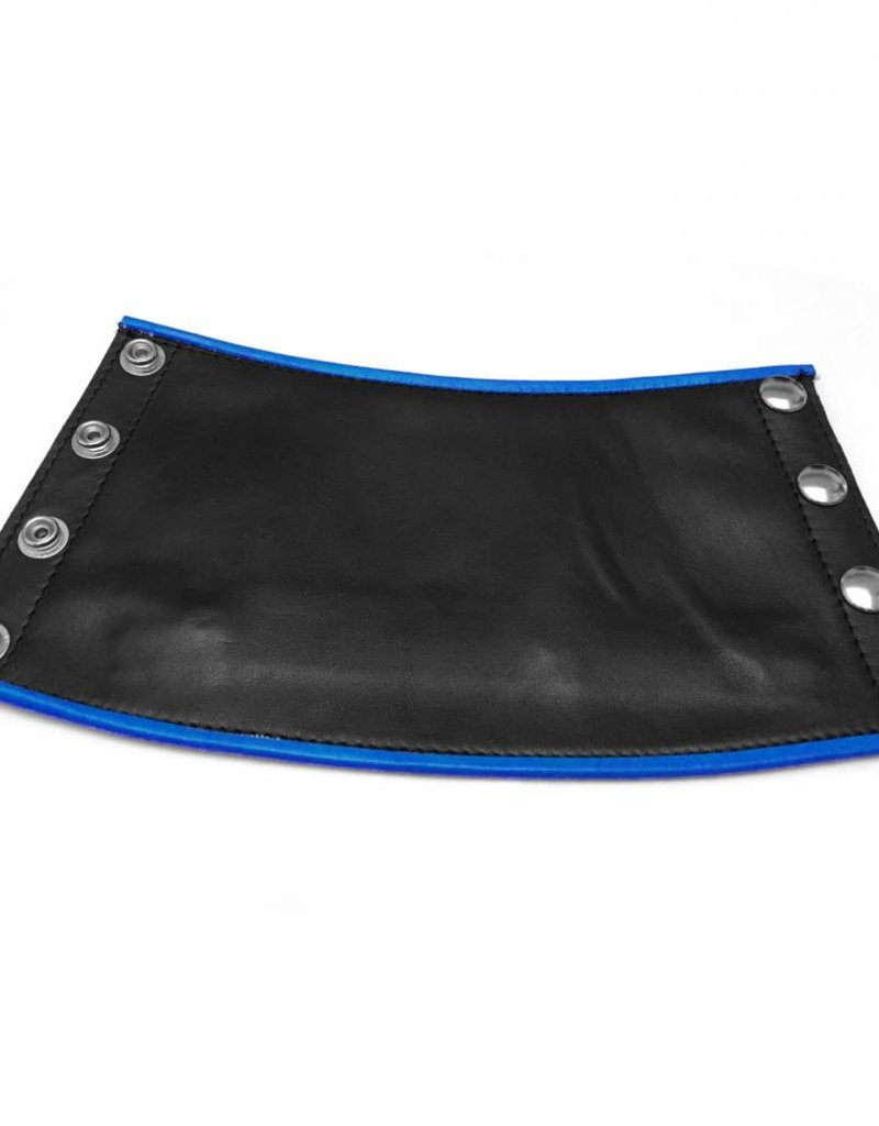 RoB Leather Gauntlet Wrist Wallet with Blue Piping