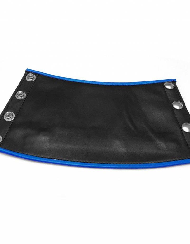 RoB Leder Gauntlet Geldbörse schwarz mit blauem Rand