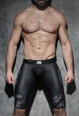 Addicted Camo Mesh Shorts black with white