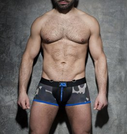 Addicted Zipper Camo Boxer with blue