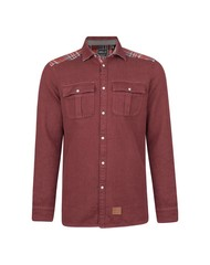 O'neill violator pattern flannel blouse rood