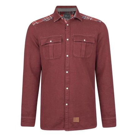 O'neill violator pattern flannel blouse red