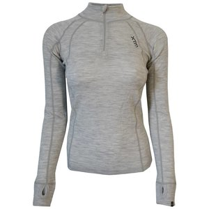 Xtm ladies thermo merino zip neck