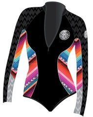 Ripcurl ladies wetsuit g-bomb l/s spring high cut