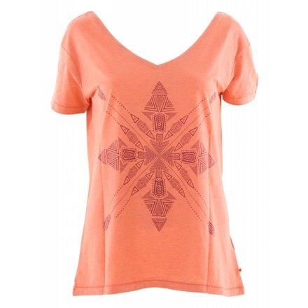 Roxy ladies pink lake four stars t-shirt
