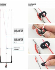 North-Kiteboarding 5th element upgrade kit voor click bar