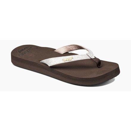 Reef ladies flip flop star cushion sa brown/white