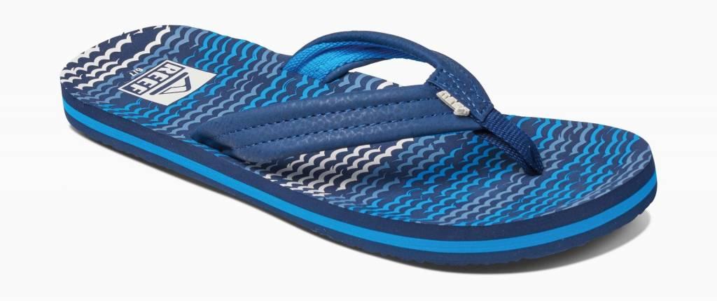 Reef kids flip flop ahi blue horizon
