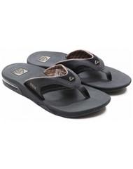 Reef slipper fanning black/brown