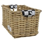 Wicked Rieten Fietsmand L Black Checker naturel