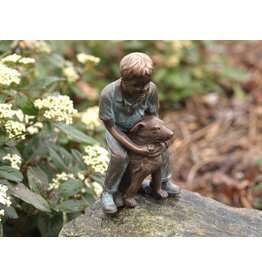Eliassen Beeld brons jongen met hond