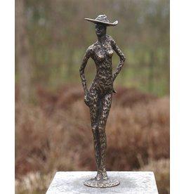 Eliassen Bild Bronze Frau mit Hut