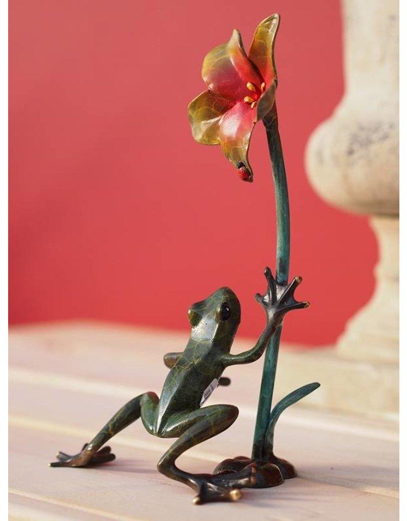 Bild Bronze Frosch Biene