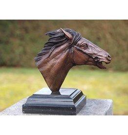 Beeld brons paardenhoofd