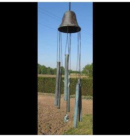 Windgong brons grote bel met tulp