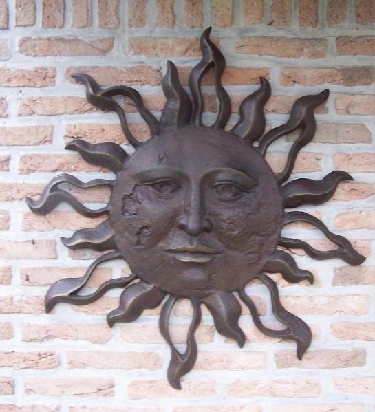 muurdecoratie brons zon zeer groot eliassen home