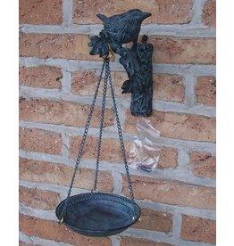 Bronzen vogelvoederschaaltje