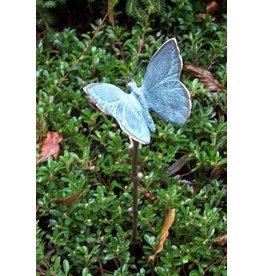 Tuinsteker met kleine bronzen vlinder